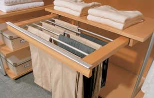 Какие бывают брючницы для шкафов, обзор выдвижных моделей