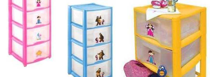 Варианты пластиковых детских комодов, особенности выбора