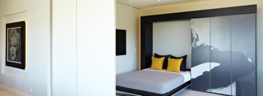 Современные кровати в стене — удобство и практичность в одном изделии
