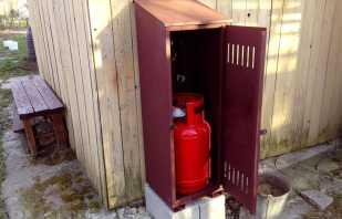 Обзор шкафов уличных для газовых баллонов, правила выбора
