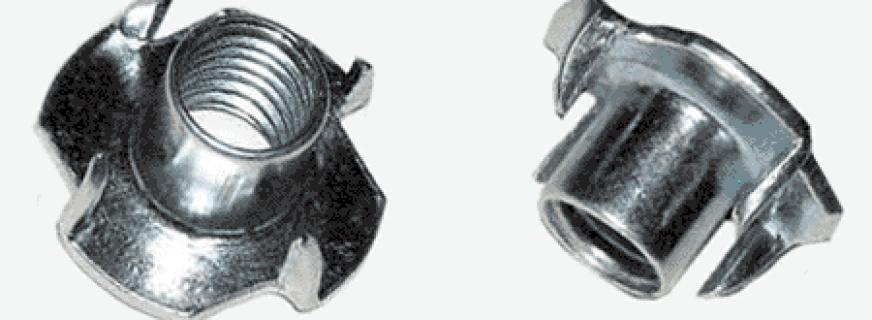 Назначение гайки мебельной, характеристики крепежей