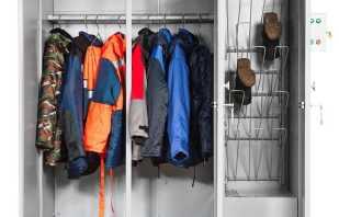 Какие бывают шкафы под спецодежду, обзор моделей