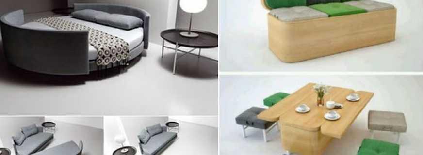 Обзор многофункциональной мебель, критерии выбора
