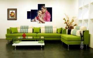 Универсальные зеленые диваны — удачное решение для любого интерьера
