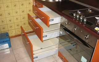 Какие существуют напольные шкафы на кухню, их особенности