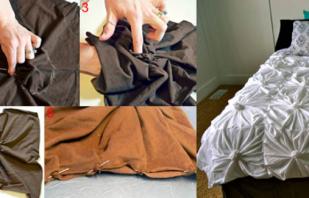 Пошив покрывал для кровати своими руками, идеи и подробные инструкции