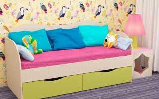 Преимущества детской кровати с ящиками, разновидности конструкций