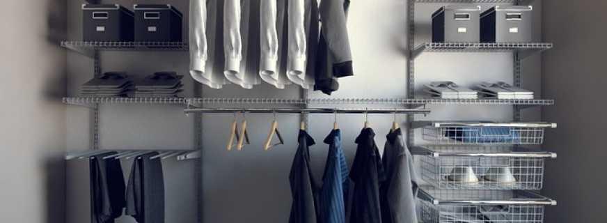 Советы по выбору сетчатой гардеробной системы, какие бывают