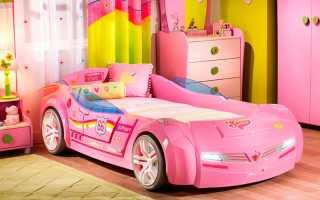 Почему так популярны кровати машины для девочек, их основные характеристики
