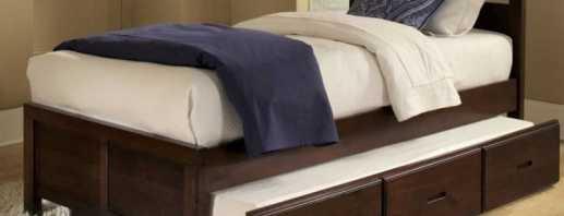 Существующие разнообразие кроватей с ящиками, нюансы моделей