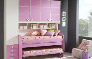 Варианты двухъярусных кроватей для девочек, преимущества конструкций