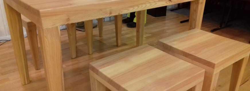 Обзор мебели из лиственницы, нюансы выбора