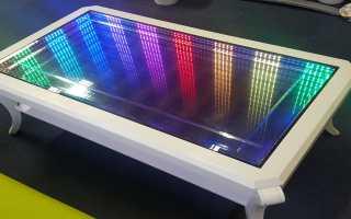 Конструкция стола с эффектом бесконечности, описание изготовления