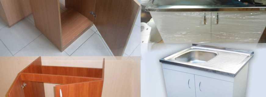 Варианты тумб на кухню под мойку, их плюсы и минусы