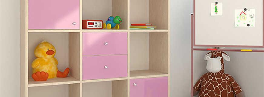 Обзор шкафов под игрушки, правила выбора