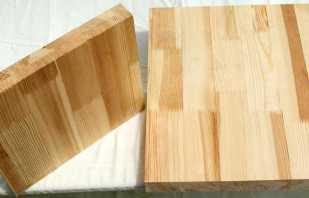 Сосновый мебельный щит, основные параметры
