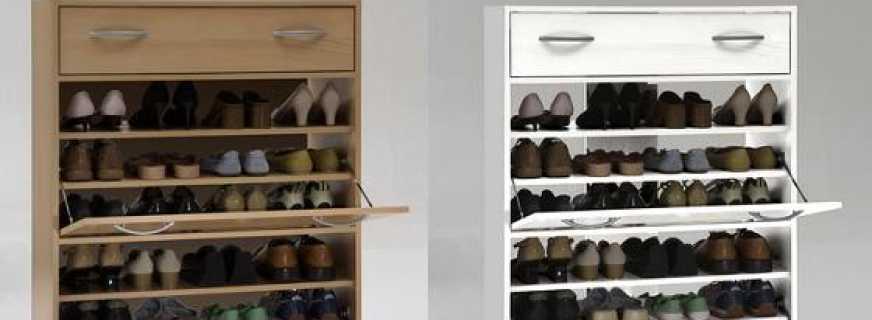 Особенности выбора узкой тумбы под обувь для прихожей