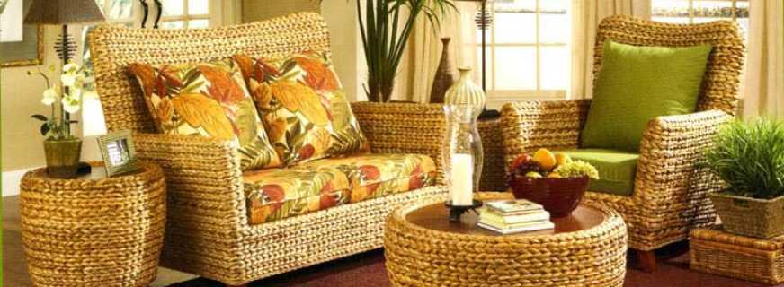 Варианты плетёной мебели, обзор моделей