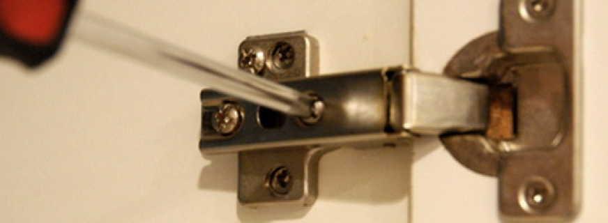 Как отрегулировать петли на дверце шкафа, подробная инструкция