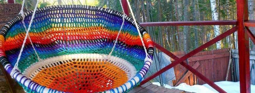 Способы изготовления удобного подвесного кресла своими руками