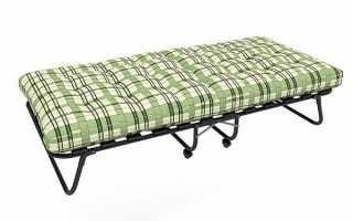 Разновидности раскладных кроватей, конструкции и размеры