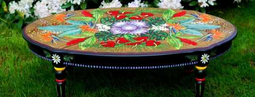 Как провести реставрацию стола в домашних условиях, идеи декора