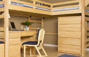 Разновидности двухъярусных кроватей со столом и вместительным шкафом