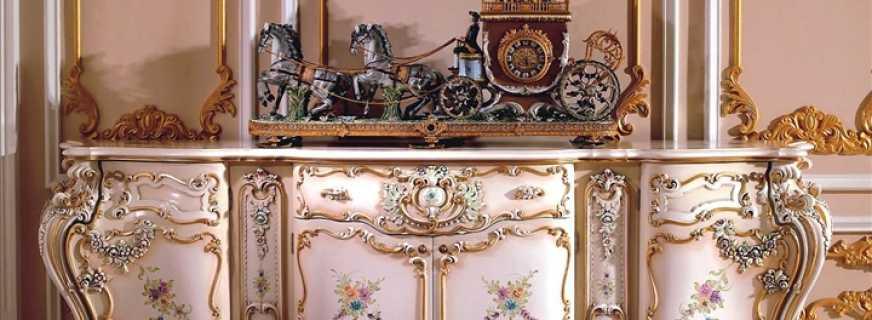 Варианты мебели рококо, важные нюансы выбора