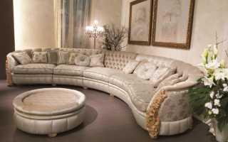 Нюансы размещения полукруглого дивана в интерьере, критерии выбора