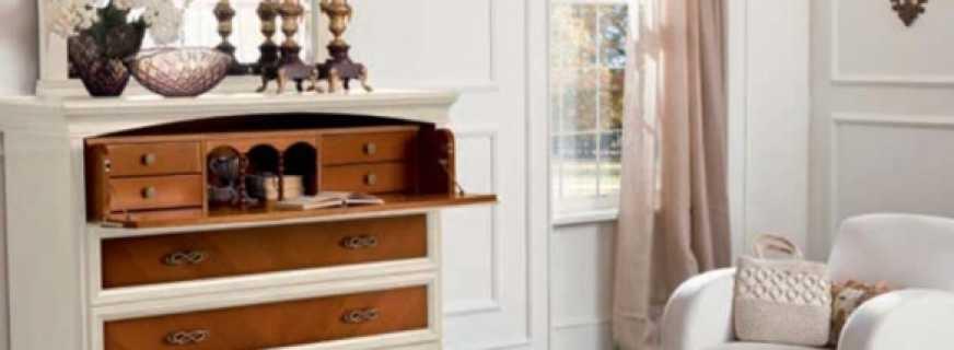 Какие бывают комоды с зеркалом для спальни, советы по выбору