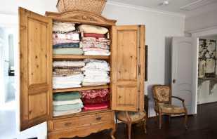 Обзор шкафов для белья с полками, правила выбора