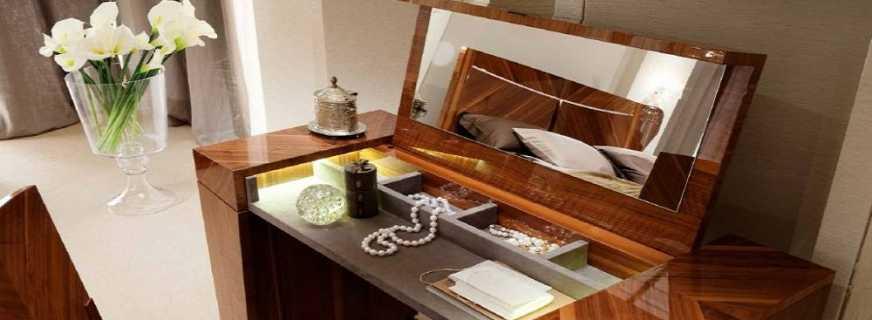 Нюансы изготовления туалетного столика с зеркалом своими руками