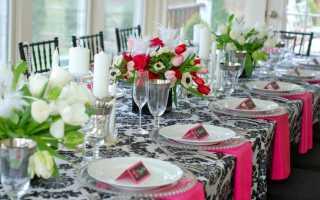 Какой должна быть сервировка стола ко дню рождения, правила этикета