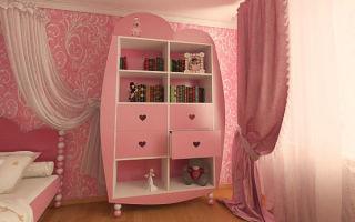Какие существуют шкафы для детской комнаты девочки, правила выбора