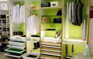 Виды наполнений шкафов и гардеробных, основные элементы