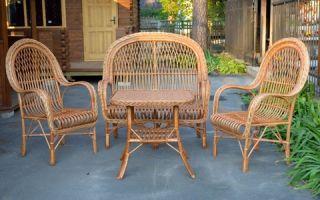 Выбор плетеной мебели из лозы, какие модели бывают