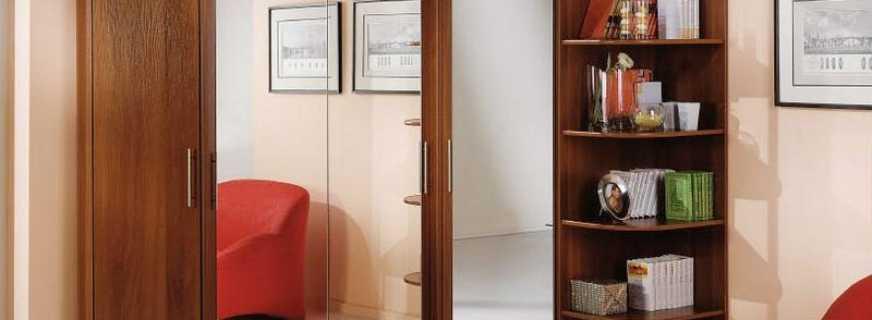 Какими могут быть угловые шкафы для гостиной, правила выбора