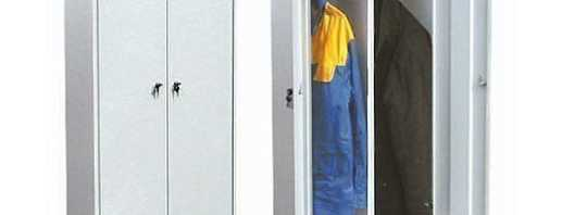 Какие существуют шкафы под одежду металлические 2 х секционные, обзор моделей