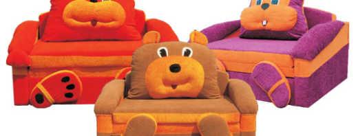 Виды детской мягкой мебели, обзор моделей