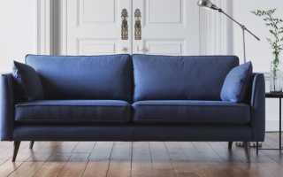 Как подобрать под интерьер синий диван, удачные цветовые комбинации
