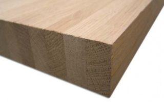 Мебельные щиты из бука, основные параметры