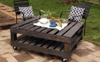 Какие варианты садовой мебели из поддонов существуют
