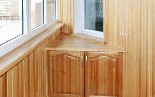 Обзор угловых шкафов для балкона, нюансы выбора