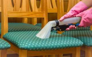 Эффективные способы чистки стульев от пятен, порядок действий