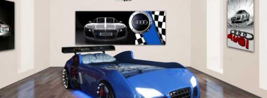 Популярные модели кроватей машин турбо в синем цвете, безопасные материалы