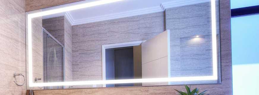 Лампочки над зеркалом в ванной