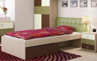 Разновидности детских кроватей с мягкой спинкой, размеры мебели