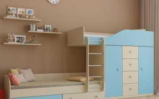 Существующие двухъярусные кровати со шкафом и их характерные особенности
