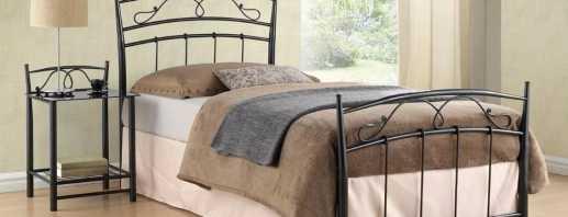 Подробный обзор металлических односпальный кроватей, место в интерьере