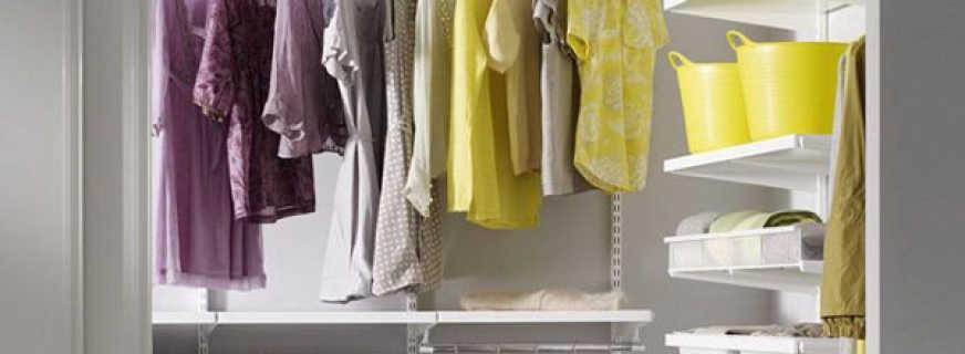 Особенности как делается гардеробная из кладовки
